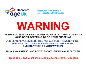A warning from Age UK Dacorum