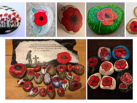 Paint a poppy pebble for Remembrance Day