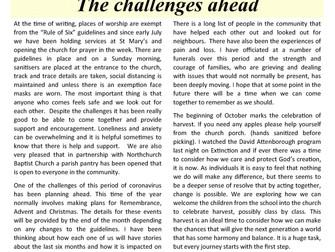 October 2020 Parish Newsletter