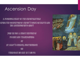 St Mary's Ascension Day Service - Thursday 30th May at 7pm