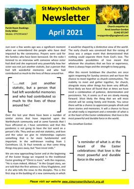 April 2021 Parish Newsletter