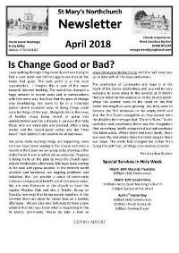 April Parish Newsletter
