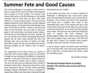 September Parish Newsletter