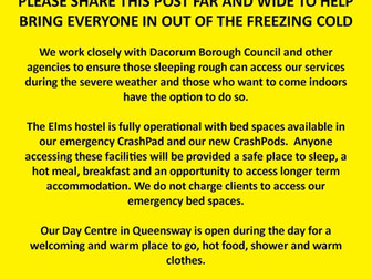 DENS: bring everyone in out of the cold