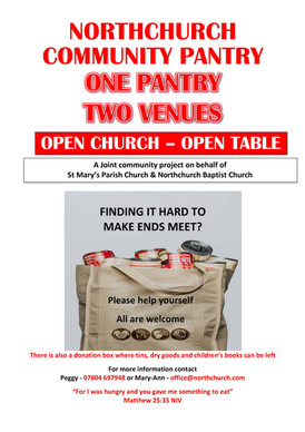 Northchurch Community Pantry - NOW OPEN