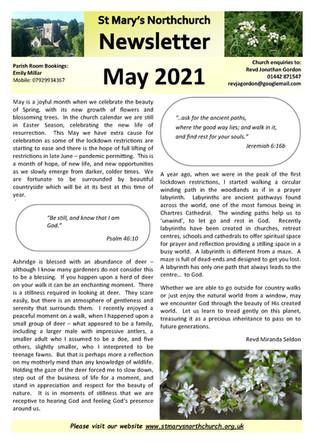 May 2021 Parish Newsletter