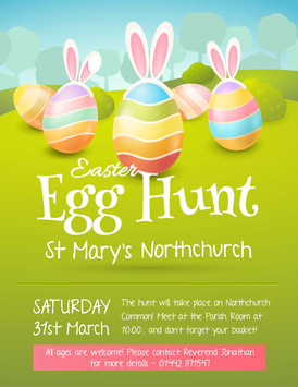 Join us on Saturday 31st March for the annual St Mary's Easter Egg Hunt!