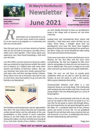 June 2021 Parish Newsletter