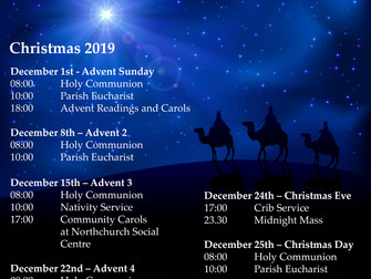 Christmas dates for your diary