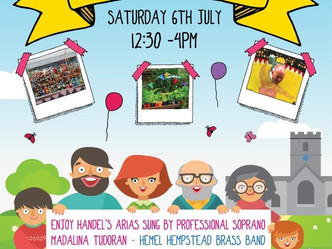 St Mary's Church Summer Fete - Saturday 6th July from 12.30 until 4pm
