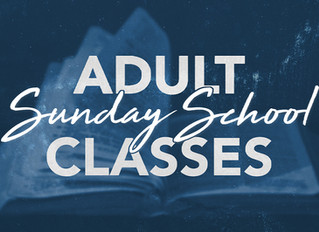 Adult Sunday School Classes