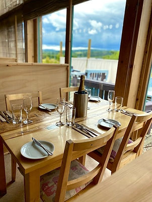 table set for indoor lunch menu at buchanan bistro restaurant