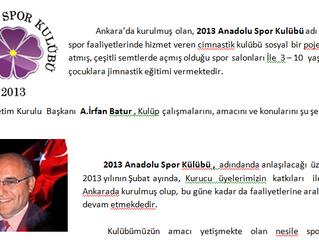 Anadolu Cimnastik Gazetede