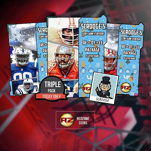 Scrooge's Stiff Arm Stuffers Three  Player Bundle - Madden 21 Ultimate Team