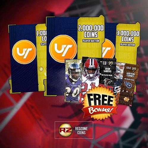 1 Million Coins+  FREE Random 99 OVR - Madden 21 Ultimate Team Coins