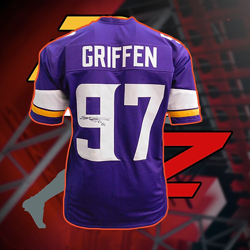 Everson Griffen Signed NFL Jersey with COA + In Game Item