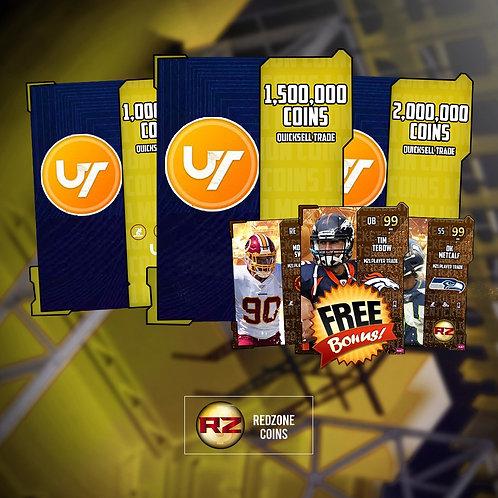1 Million Coins Quicksells + FREE Random 99 OVR GT- Madden Ultimate Team