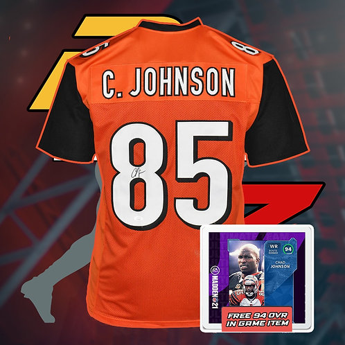 Chad Johnson Signed NFL Jersey with COA + In Game Item