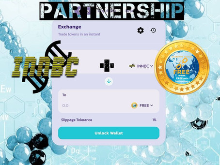 FREE COIN and INNBC Partnership to Bring Liquidity with INNBC\FREE pair on InnovativeBioresearchSwap