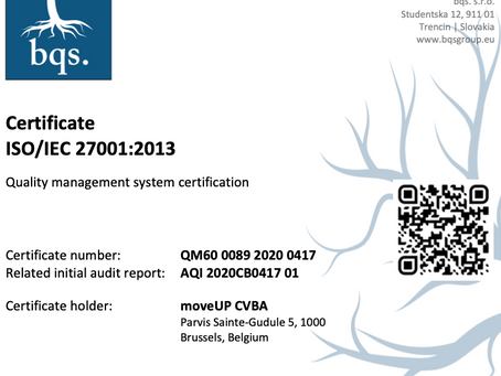 moveUP & b.clinic receive ISO 27001 for data protection