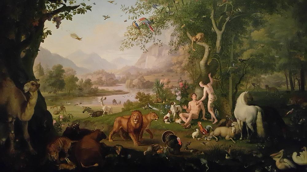 Adam and Eve in the Garden of Eden, by Wenzel Peter, Vatican Museum. Photo: www.jessicagroenendijk.com