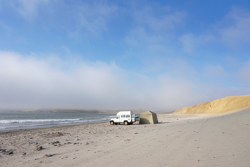 Camping in Paracas National Reserve, Peru. Photo: Jessica Groenendijk, Words from the Wild