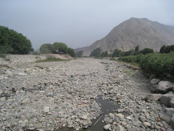 The Lurin River downstream.