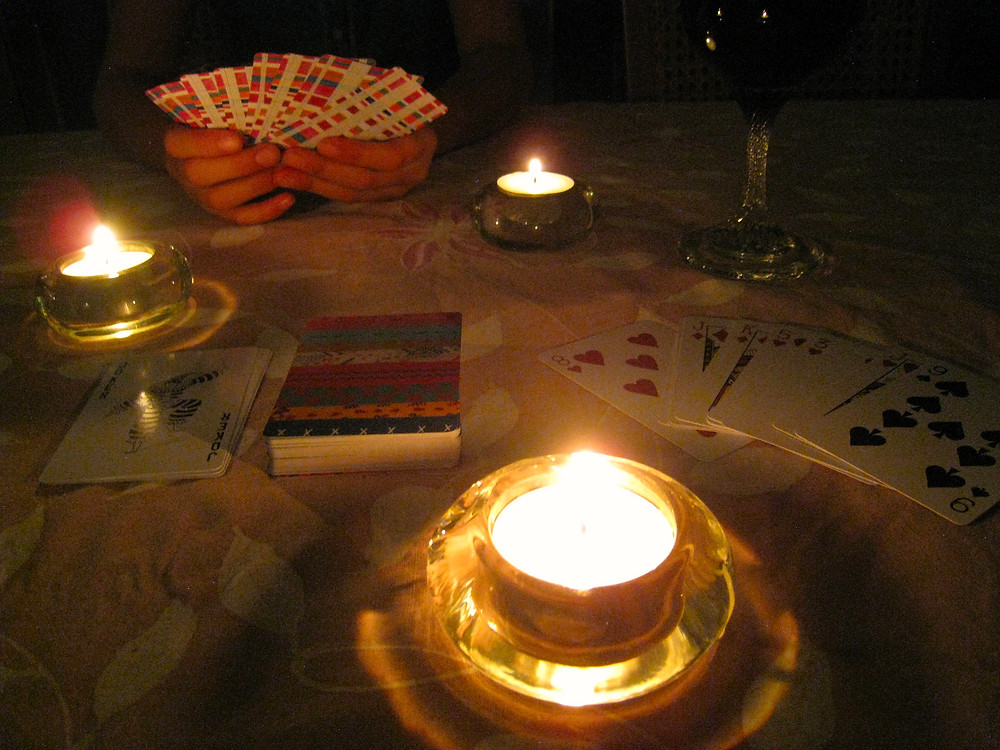 Earth Hour and card games by candlelight