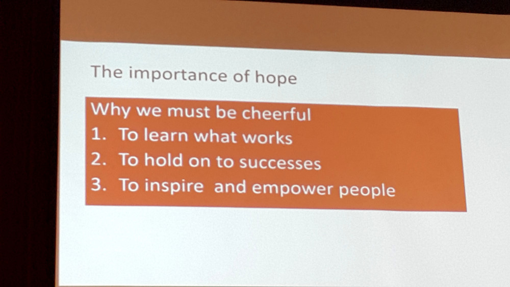 The importance of hope. Slide created by Andrew Balmford