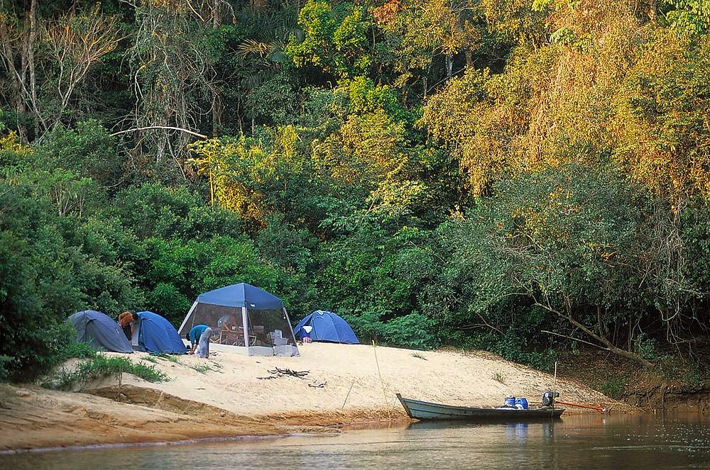 Camping in the Peruvian rainforest. Photo: Jessica Groenendijk