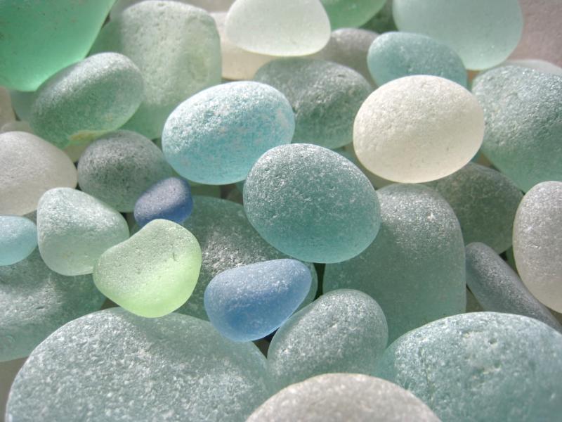 Sea glass. Photo: Jessica Groenendijk