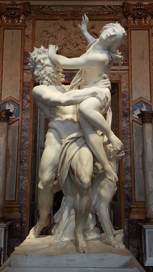 The Rape of Proserpina, by Bernini, Borghese Gallery, Rome. Photo: www.jessicagroenendijk.com
