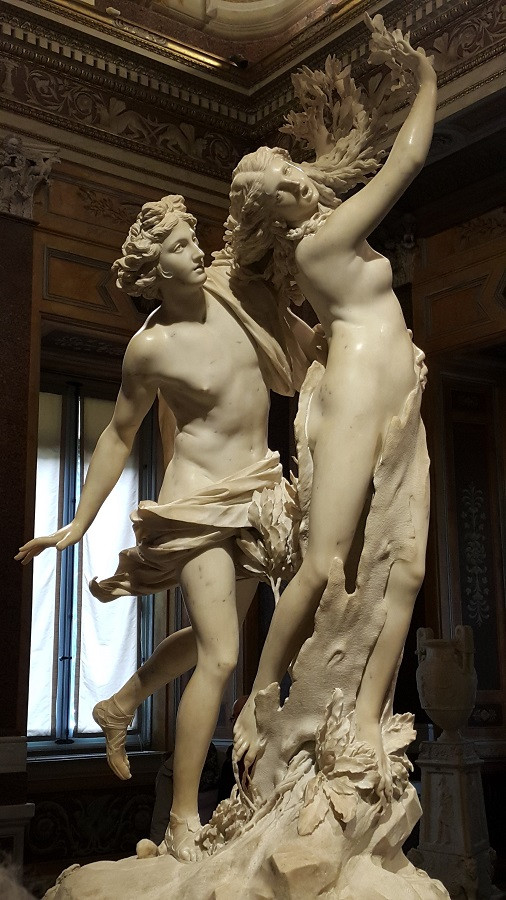 Apollo and Daphne, by Bernini, Borghese Gallery, Rome. Photo: www.jessicagroenendijk.com