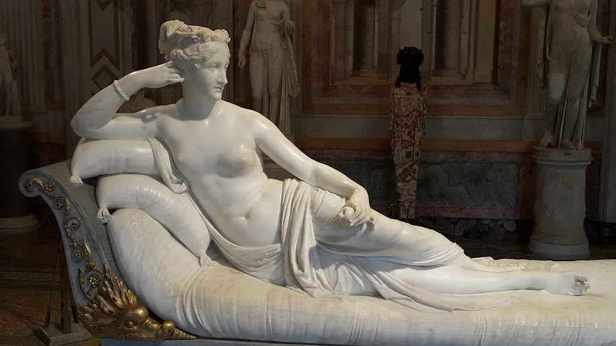 Paulina Borghese, by Canova, Borghese Gallery, Rome. Photo: www.jessicagroenendijk.com