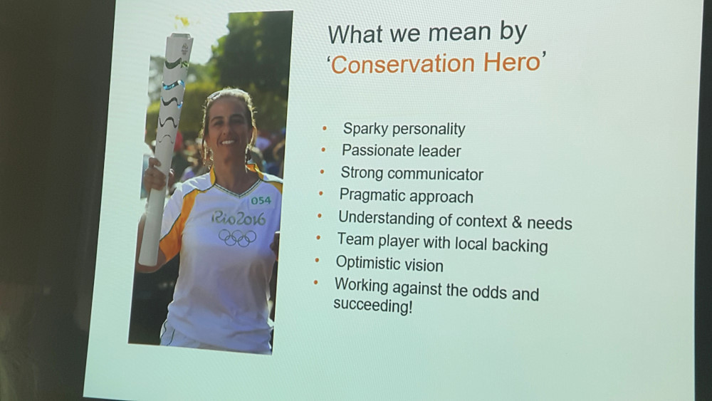 Conservation Hero. Slide by Danni Parks, Whitley Fund for Nature
