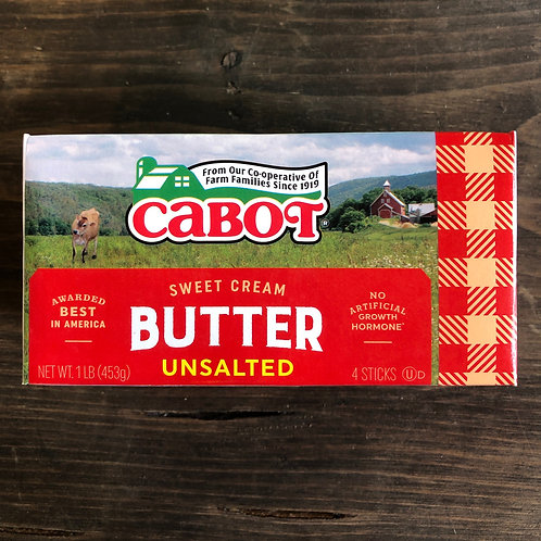 Unsalted Butter (Qtrs) - Cabot