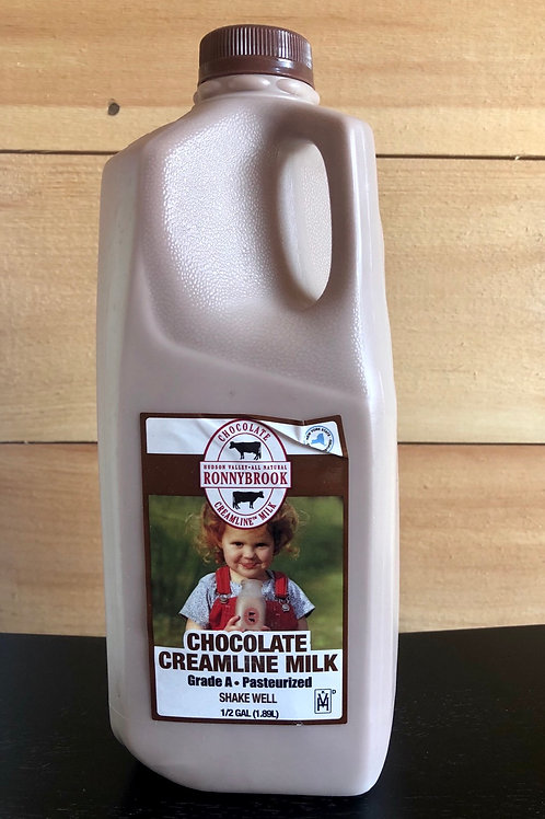 Chocolate Milk, 1/2 Gallon - Ronnybrook