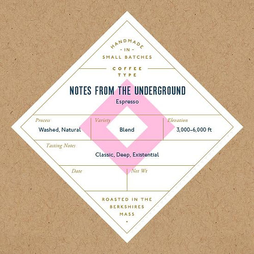 Espresso blend, Notes From the Underground - No. 6 Depot