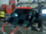 DARKSIDE TINTING CORVETTE BACK GLASS CHECKERED FLAG CUSTOM EXCELSIOR SPRINGS KANSAS CITY LIBERTY
