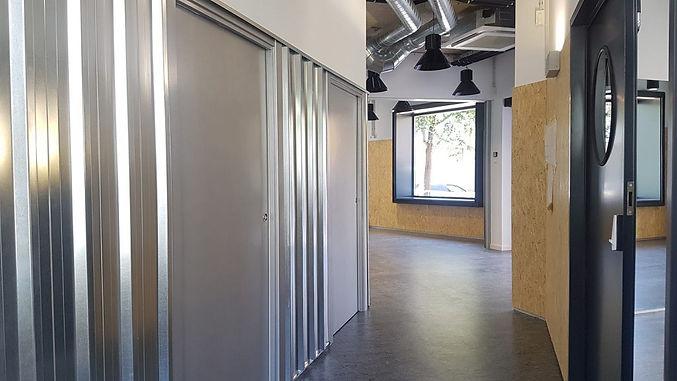 industrial interior design - barcelona youth center