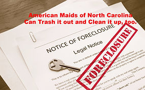 AMNCLLC is here to handle your foreclosure cleanout and foreclosure cleanup. From start to finish; everything needed but the repairs.