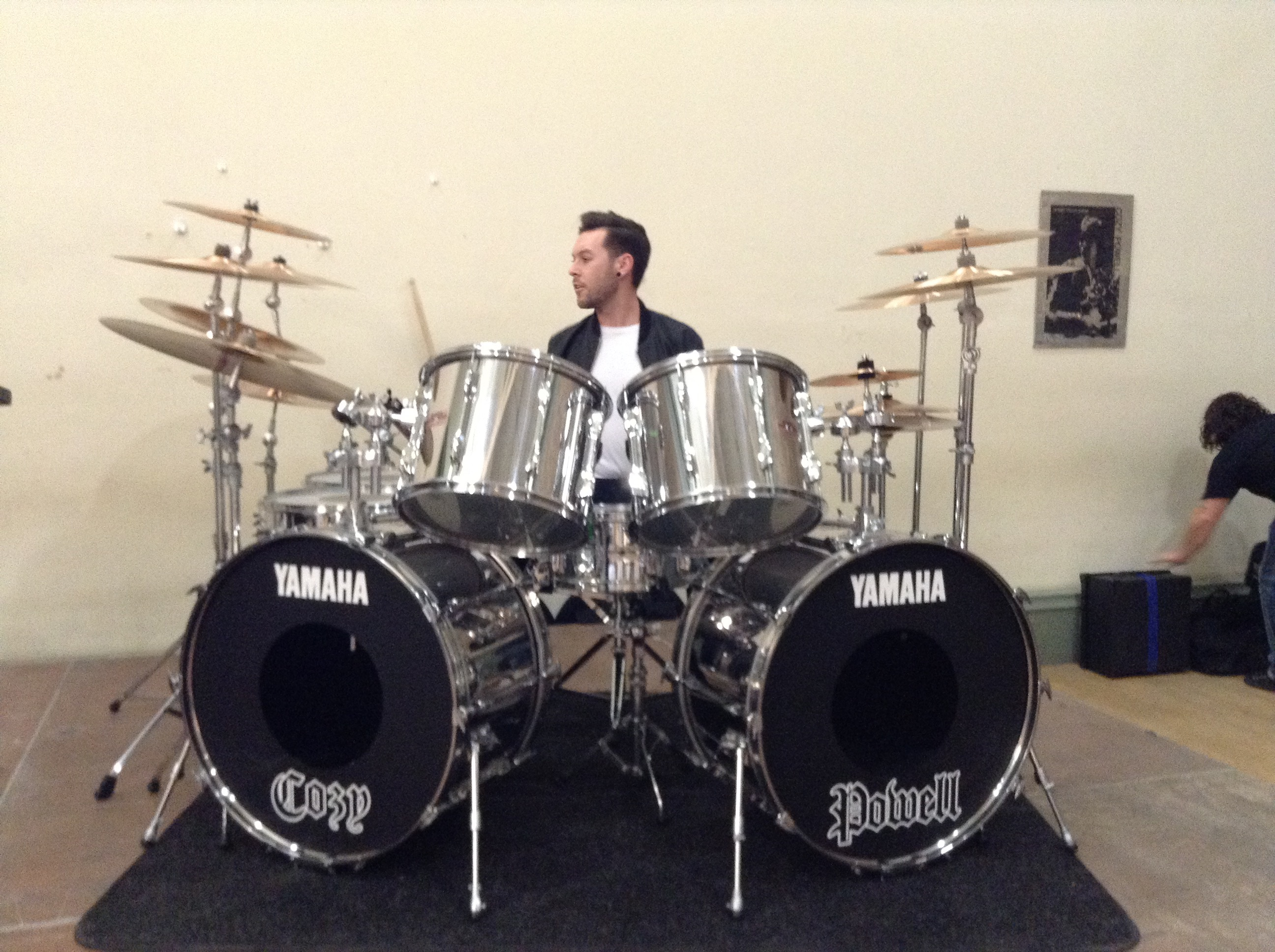 Chris Allan plays Cozy Powell drums
