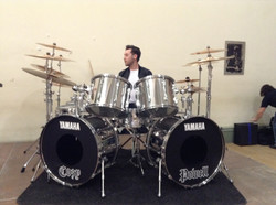 Chris Allan plays Cozy Powell drums