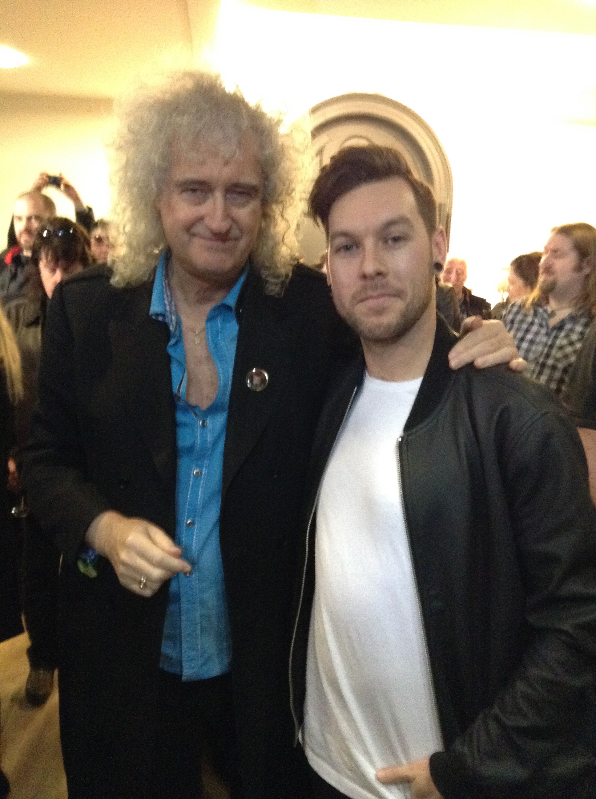 Chris Allan and Brian May Jan. 2016