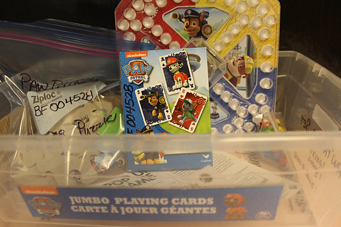 Paw Patrol-Puzzle, Cards, Game Bin