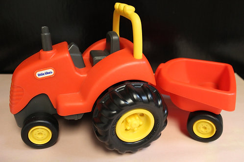 Tractor with Wagon-Red