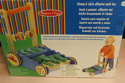 Alligator Push Toy, Chomp & Clack