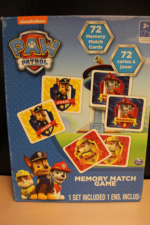 Game-Paw Patrol Memory Match Game