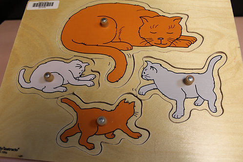Peg Puzzle Cat