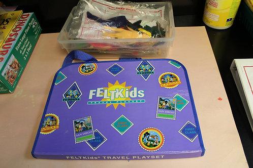 Felt Kids Travel Playset & Felt People Shapes